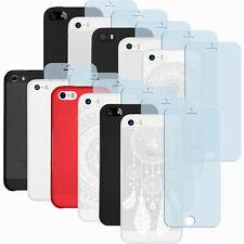 mumbi Hülle für Apple iPhone SE 5S 5 Schutzhülle Case + Panzerfolie Folie 9H
