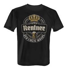Der einzig wahre Rentner Herren T-Shirt Bier Geschenk Rente Kollege Opa Lustig