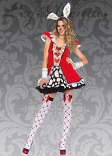 Womens Wonderland Playing Card White Rabbit Costume