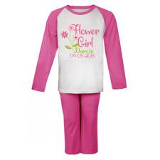 Personalised Flower Girl Pyjamas Girl's Pjs Wedding Bridesmaid Gifts