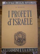 (RELIGIONE-STORIA) BOSON:I PROFETI D'ISRAELE