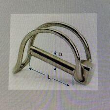 Shaft Locking Pin Gate Hitch Retaining D CLIP - UK Steel 12 Sizes - Buy 3 To 25