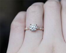 0.5 ctw Moissanite Wedding Engagement Ring For Women 10k Solid White Gold