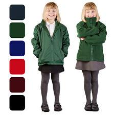 Veste polaire filles réversible hiver chaud manteau de pluie imperméable uniforme scolaire