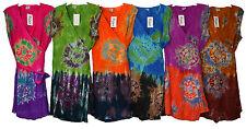 Wrap Dress Tunic Tie Dye Tunic Sleeveless Multi Color PLUS Size OSFM M -1X