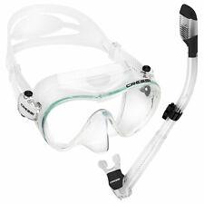 Cressi Frameless Dive Mask and Supernova Dry Snorkel Combo