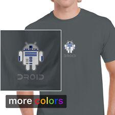 Star Wars Android R2-D2 DROID Mens T-shirt, R2D2 Darth Vader Empire Jedi Tee