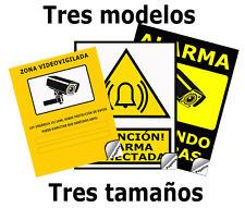 Cartel Pegatina Disuasorio Alarma Conectada Zona Vigilada 24h Aviso Policia Cam