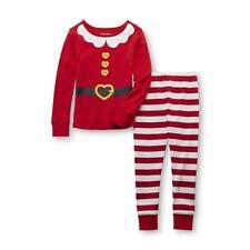 New Joe Boxer 2 Pc Santa Costume Pajama PJs Outfit 100% Cotton Tight Fit Set