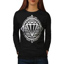 Diamond Life Club Women Long Sleeve T-shirt NEW | Wellcoda