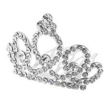 Strass brillant mini couronne diadème mariage bijoux de cheveux de banquet