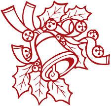 (WD0801 Rojo) Aplicación Etiqueta Engomada de Decoración Campanas Versch.