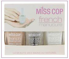 PROMO : Kit French Manucure ( 3 x 12 ml )  - MISS COP - Beauté des Mains - NEUF