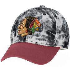 "Chicago Blackhawks ""Acid Washed"" Structured Flex Hat NHL CCM Fitted Baseball Cap"