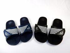 Men's Slider Sandals w/Straps, Men Sizes, Shower, Locker Room, Beach, #S2090-M