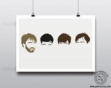 JOY DIVISION - Minimalist Band Poster Silhouette Music Heads Minimal Ian Curtis