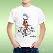 T-Shirt Bambino Ragazzo Citazione Divertente Capitan Uncino Mano Idea Regalo