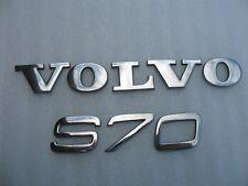 98 99 00 VOLVO S70 REAR TRUNK LOGO EMBLEM DECAL CHROME USED OEM 1998 1999 2000