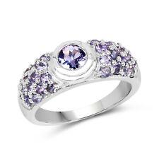 1.45 Ct Genuine Tanzanite 925 Sterling Silver Valentine's Love Proposal Ring
