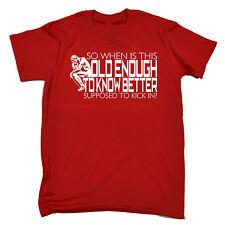 Abbastanza grande per conoscere meglio da Uomo T-shirt Tee COMPLEANNO PAPA 'MAMMA vecchia più Anziani Divertente Regalo