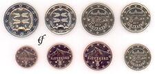 República de Eslovaquia todas las monedas 8 1 centavos - 2 euro kursmünzenset kms todos los años de elegir