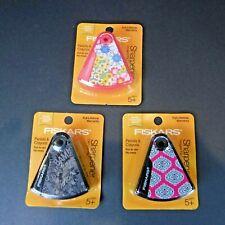 Fiskars Designer Flip Wedge Sharpener Pencil Crayons New 3 Designs to choose