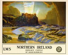 Vintage  Railway Poster: NORTHERN IRELAND Dunluce Castle :  A2 & A3 (172)