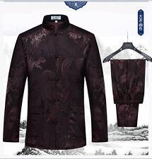 Men Traditional Chinese Tang Suit Coat clothing Kung Fu Tai Chi Uniform Dragon