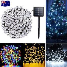 Solar Powered 100/200/500 LED String Fairy Lights Garden Outdoor Xmas Party Lamp