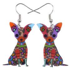 BONSNY CHIHUAHUA Dog jewellery Pet Charm Dangle drop animal earrings women girls