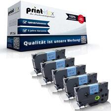 5x Kompatible Schriftbänder für Brother TZE541 18mm x 8m Band -Drucker Pro Serie