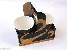 Becherträger, Bechertablett für Coffee to go Kaffeebecher Pappbecher  100-500St.
