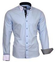 Herrenhemd Hemd Langarm Binder de Luxe 86001 Button-Down Blau