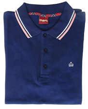 Camiseta Polo Manga Corta Merc London 100% Algodón Hombre Azul 1906