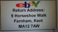 520 Ebay Logo  printed return address labels