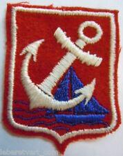 Insigne tissu Club Nautique MARINE TOULON sport ancien authentique