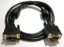 12+5 Pin DVI DVI-A Analog Male Converter to HD-15 VGA Male Cable 6ft Long