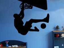 Jugador de baloncesto Pared Arte Pegatina Niños Chicos Habitación Decoración BR48
