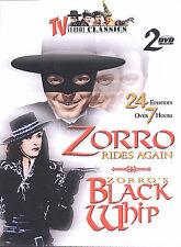 TV Serial Classics - Zorro Rides Again/ Zorros Black Whip (DVD, 2003, 2-Disc...