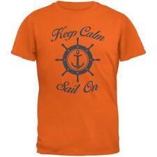 Sail On Orange Adult T-Shirt