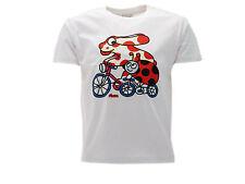 Camiseta Pimpa e Mariquita en Bicicleta En blanco