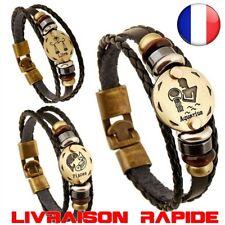 Bracelet Signe zodiaque Punk Zodiac 12 constellations Charm Jewelry Idée Cadeau