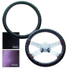 "Universal 18"" Black Leather Steering Wheel Cover"