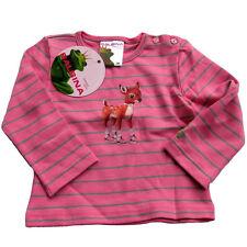 Balbina Langarmshirt Swarovski rosa grau  Bimba Reh Pullover 6m 12m  68 74  NEU