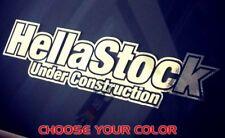 Hellastock decals Stock JDM Illest Vinyl Car CHROME dropped Sticker Window Funny