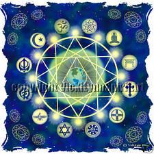 World Peace Emissary Wheel Sacred Geometry T-Shirt