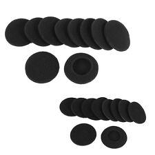 10 Spugnette Morbide protettive orecchio nero per Cuffie G5Y6
