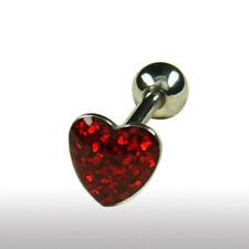 EPOXY Crystal Herz Zungen Piercing Stecker viele Kristallen beschichtet 12, 16mm