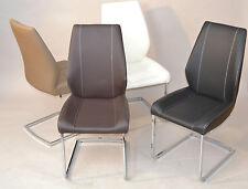 2er-Set Freischwinger Esszimmerstühle Stuhl Sitzgruppe Stühle Farbwahl