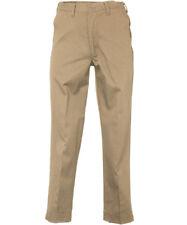 Men's Work Pants Khaki Tan 100% Cotton Flex Waist Industrial REED Uniform